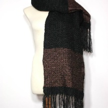 Black and copper woven scarf