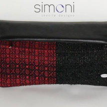 Black and red woven bag