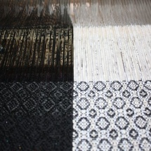 Black and white fabric : weaving