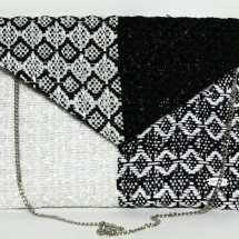 Black and white woven envelope