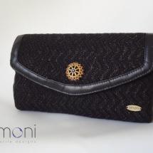Black woven clutch