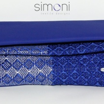 Blue and Silver Woven bag