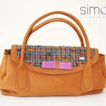 Camel woven ladylike bag