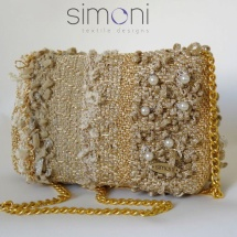 Gold mini woven bag