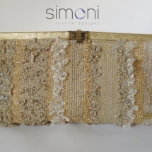Gold woven clutch