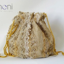 Gold woven pouch