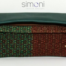 Green and Copper woven bag