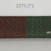 Green and copper woven clutch