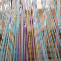 Hand dyed fabric ready for weaving