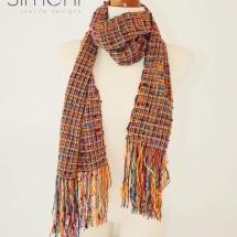 Orange tweed scarf