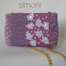 Pink mini woven bag