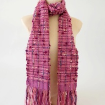 Pink tweed woven scarf