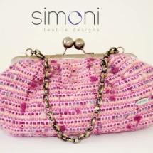 Pink woven bag