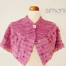 Pink woven cape