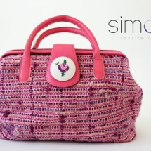 Pink woven doctor bag