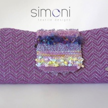 Purple Textural Clutch