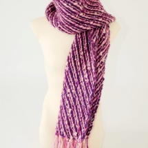 Purple and Pink woven scarf