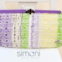 Purple green and white clutch 3