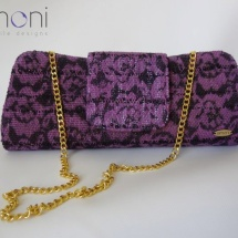 Purple lace woven bag