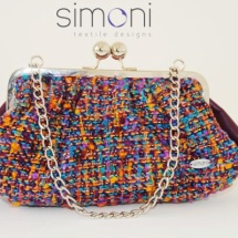 Purple woven bag