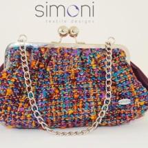 Purple woven bag