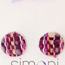Purple woven earrings 2