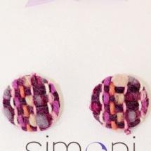 Purple woven earrings 2
