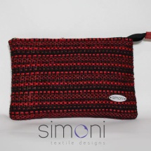 Red and Black Tweed mini purse