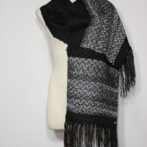 Silver and Black woven scarf