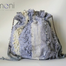 Silver woven pouch