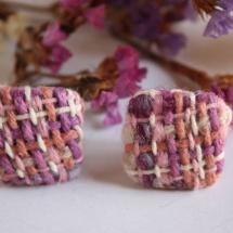 Square woven earrings 2
