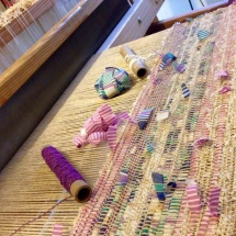 Textural fabric on the loom