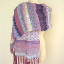 Textural woven shawl 1