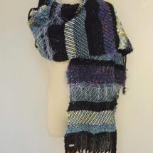 Textural woven shawl 3