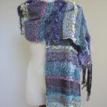 Textural woven shawl 4