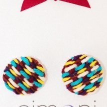 Tweed earrings