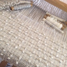 Weaving process: Tweed white fabric