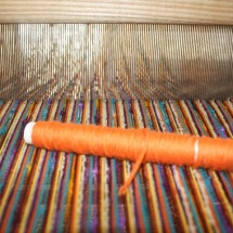 Weaving process: tweed fabric
