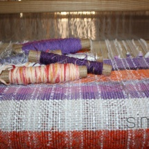 Weaving with Pastel colours