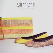 Woven ballet pumps and purse