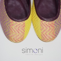 Woven ballet pumps, close up