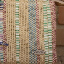 Woven, beauty bag: purse detail