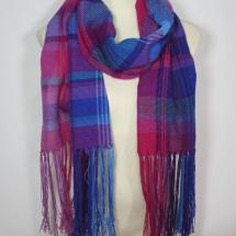 Woven check shawl