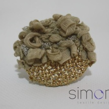 Woven gold ring