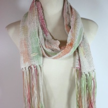 Woven hand dyed scarf 2