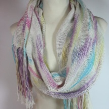 Woven hand dyed scarf