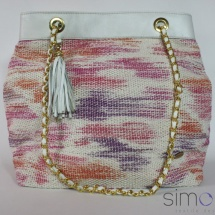 Woven hand dyed shoulder bag