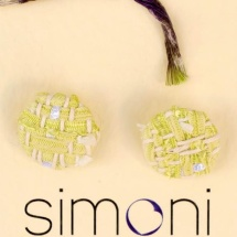 Woven lime earrings