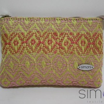 Woven mini purse with patterns