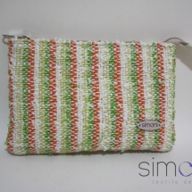 Woven mini purse with stripes